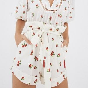 {FARM Rio} Brand New Mini Pitanga Paperbag Shorts